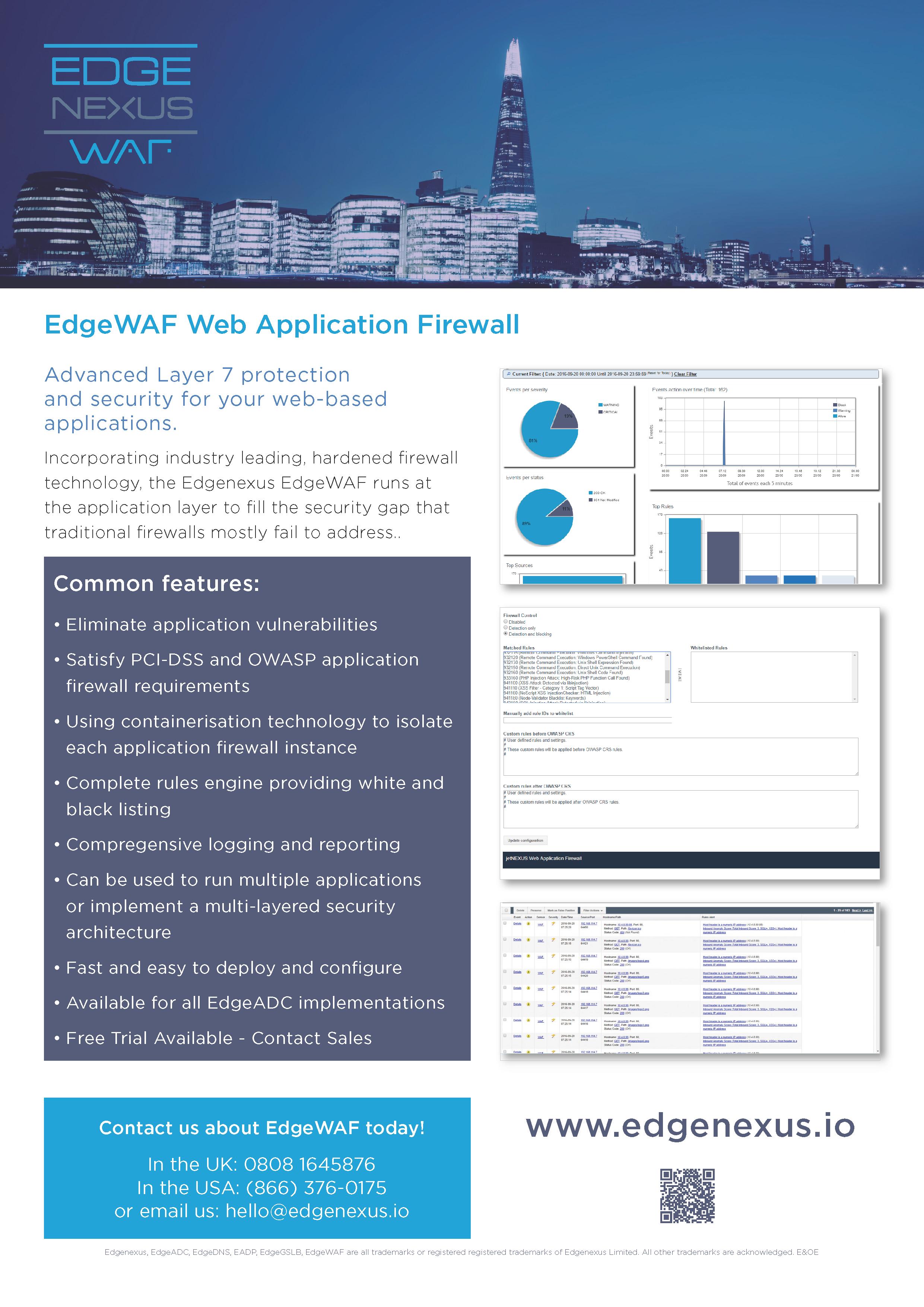 EdgeWAF Datasheet 2021